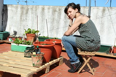 On a sunny roof a hobbit (I'm upstairs) Tags: barcelona garden gardening urbangarden doityourself greenroof containergardening horturba