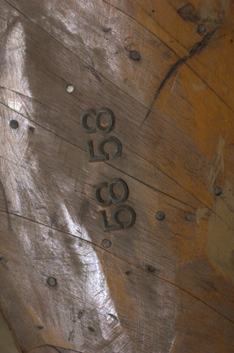 Wooden Propeller Blade, Detail