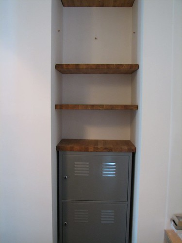 Bathroom Closet Floating Shelves