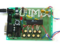 ATMEGA168, and its messy dev board