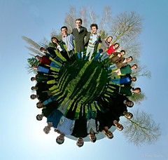 It's a world of laughter, a world of tears (Man) Tags: panorama college university searchthebest 360 full explore management handheld 360x180 spherical graduateschool hec stereographic planetoid hugin enblend interestingness62 i500 littleplanet manuperez impressedbeauty planetoids majeureconomie