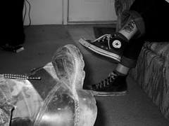 old school (courtneyisapirate) Tags: bw tattoo shoes punk boots neworleans dirty uno converse chucks chucktaylors pirateship combatboots armyboots