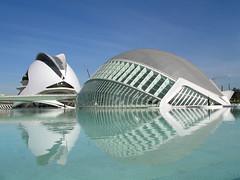 Ciudad de las Artes y las Ciencias (luciagalant) Tags: las blue sun water valencia architecture de amazing y ciudad calatrava l artes ciencias hemisferic