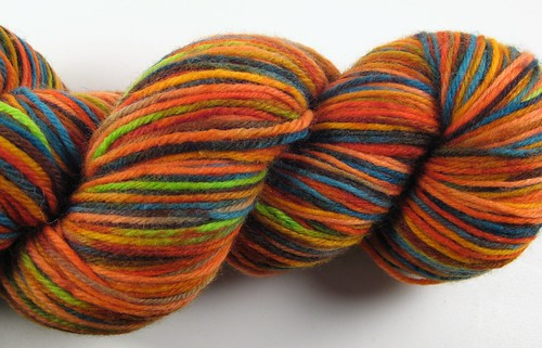 My Handyed sock yarn