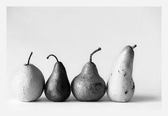 Black and White Parade (espion) Tags: blackandwhite stilllife bravo pears 100v10f highkey pf 500v 123bw abigfave pf07 sgpow45 channelblending