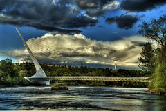 The Sundial Bridge (SubEclipse) Tags: california ca sky northerncalifornia clouds nikon bridges d200 nikkor northern redding hdr santiagocalatrava reddingca sundialbridge shastacounty 10mp 7exposures subeclipse nikkor18135mmf3556gedifafsdxzoom