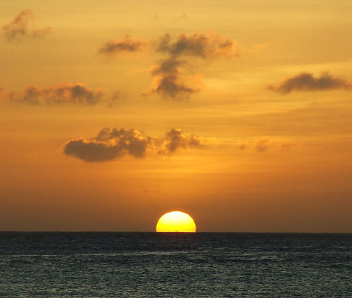 Saipan sunset, Aquarius Beach