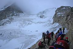 Inizio del ghiacciaio (Signalkuppe 4:3) Tags: pont alpinismo ghiacciaio madonnina granparadiso cordata chabod monciair laveciau ciarfron