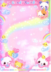Candy Twins (lightning_lover) Tags: memo kawaii stationery notepaper