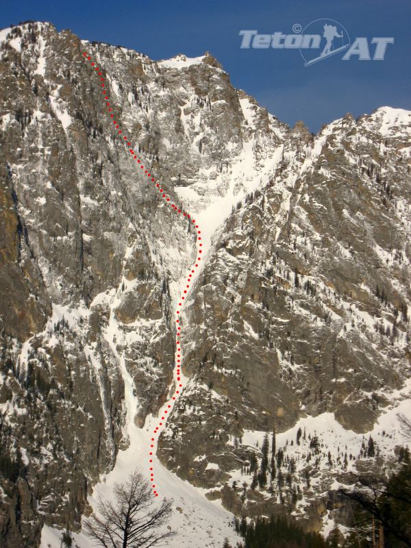 The Apocalypse Couloir on Prospectors Mountain