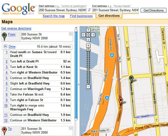 Maps - Umweg