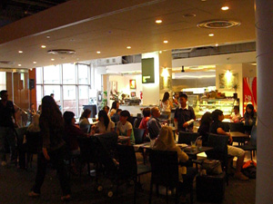 NLB Staff Jam - diners at the Art Cafe