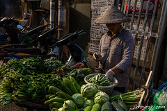 In the marketplace (Mieczysław Skrzypski) Tags: asia hanoi vietnam vietnamese wietnam capital city commodity dealer fair fruits market marketplace road sale salesclerk salesman seller shopkeeper street travel vegetables vendor ware vn