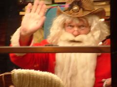 Santa (Princess Valium) Tags: santa waving santasworkshop cowboysanta