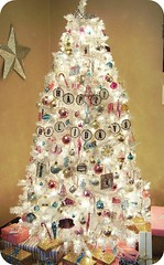 (holiday_jenny) Tags: christmas xmas pink holiday tree happy gold aqua pretty turquoise gifts presents chic shabby