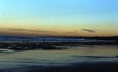 Tyneinghame sunset, Dog walker (Sandy Beach Cat) Tags: sunset sea beach landscape scotland sand tyneinghame