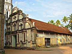 Earlier Portuguese Church behind St Andrew's Forane Church in Arthungal, Kerala (FabIndia) Tags: india church kerala arthungal