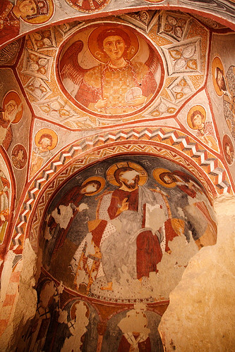 fresco painting of Apple Church