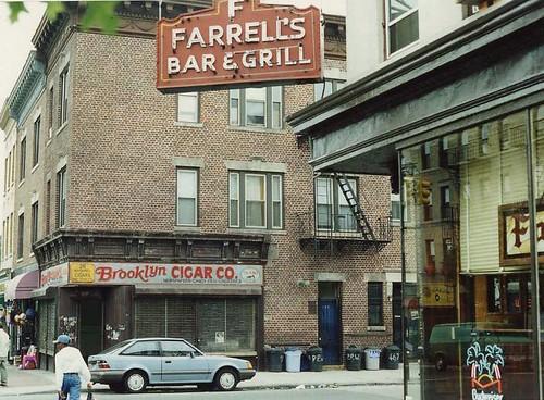 """Farrell's Bar across from filming location """"Smoke"""" (1995), Brooklyn NY"""