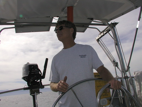 Captain Dan on the lookout