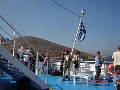 Hampir Tiba Di Pulau Santorini, Greece