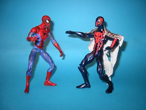 Spider-man now and Spiderman 2099