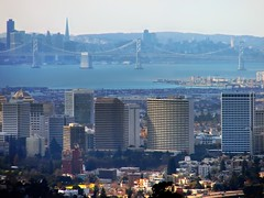 blue density levels (pbo31) Tags: sanfrancisco california above city bridge blue winter urban color water northerncalifornia skyline architecture oakland bay downtown view suburban over january cities baybridge bayarea vista suburb sanfranciscobay eastbay alamedacounty 2007 joaquinmillerpark metroarea lincolnhighlands