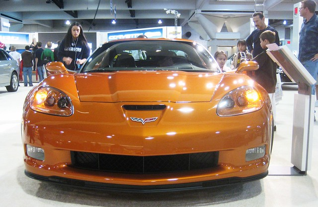 orange chevrolet corvette 2007 zcar z06