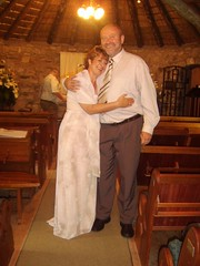 Jaap & sandra after their wedding in the little chapel