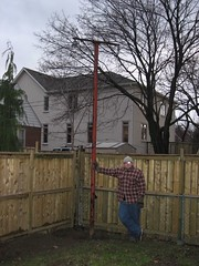 Huge pole in our back yard