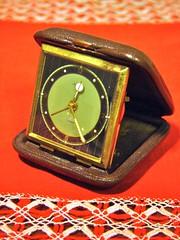 (Sameli) Tags: old red clock leather time retro clocks