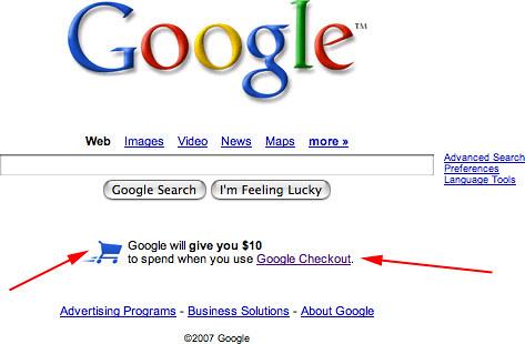 Google.com Checkout Promo