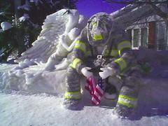 Frozen fireman