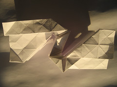 gothic river flat - profile (polyscene) Tags: sculpture art paper profile collapse polly fold poly verity corrugate pleat polyscene pollyverity