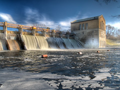 Barton Dam (Photomatix HDR) (jhoweaa) Tags: michigan annarbor olympus michiganfavorites hdr e500 photomatix interestingness61 bartondam i500 7xp mywinners explore20070121