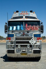 Blue and Red (Rohan Phillips) Tags: blue red big nikon d70s semi rig adelaide trucks trailer trucking kenworth cabover k104