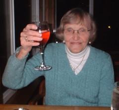 Eleanor with white wine