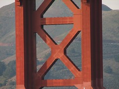 Red X (sfsweetness) Tags: sanfrancisco cruise red bay ship cross goldengatebridge cruiseship sanfranciscobay queenmary2 oceanliner