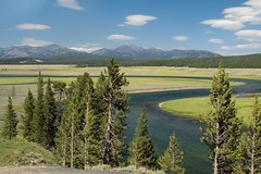 Hayden Valley (Robby Edwards) Tags: vacation mountains water field river nationalpark yellowstonenationalpark yellowstone wyoming yellowstoneriver haydenvalley blueribbonwinner specland abigfave