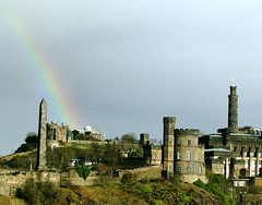 Rainbow over Calton Hill