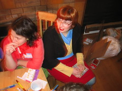 IMG_7578.JPG (monsterpants) Tags: birthday red party orange colour yellow birthdayparty kristen bangs turquois synaesthesia truecolours colourparty birthday2007 synaesthesiaparty