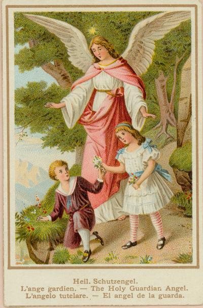 Holy Card / Image pieuse / Heiligenbild : Angel de la guarda / Schutzengel