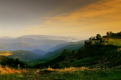 Wildness... (Fif&Co.) Tags: light sunset sky sun mountain grass fog landscape spain bravo quality perspective catalonia summit pyrenees alturgell thebestbravo magicdonkey instantfave interestingess1 specnature speclandscapes guilsdelcant colorphotoaward