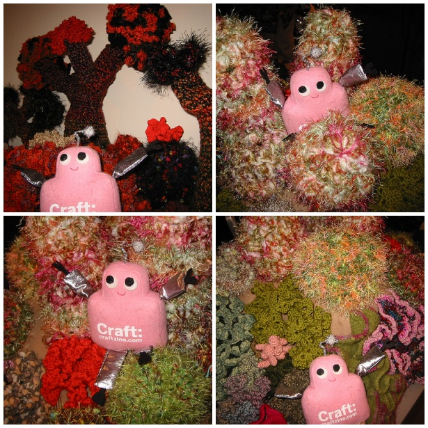 Pink Craftie's tour of the coral reefs at the Institute for Figuring