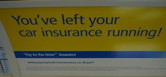 Ad for Pay-as-you-drive car insurance by dlisbona on Flickr