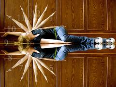 What Time Is It? (austinspace) Tags: portrait woman clock photoshop washington interestingness interesting university multiplicity explore clone eastern ewu easternwashingtonuniversity seniorhall ideasplayground