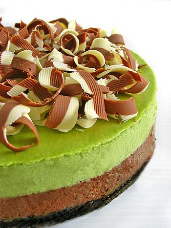 Chocolate Macha Cheesecake