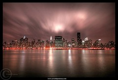 The City of Lights (Arnold Pouteau's) Tags: nyc clouds cityscape manhattan midtown queens eastriver lic empirestate chryslerbuilding longislandcity anawesomeshot