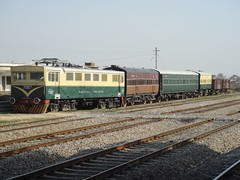 engine and coaches (tango 48) Tags: pakistan heritage electric museum train coach picnic indian rail railway locomotive antiques islamabad electriclocomotive viceroys golra viceroyscoach