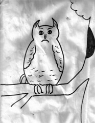 Sunday sketch grumpy owl